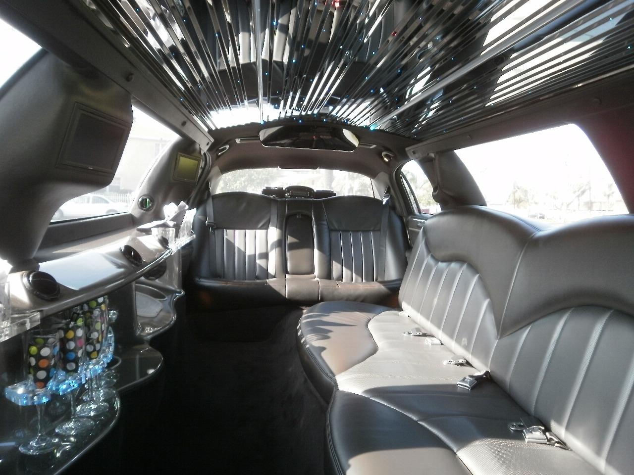 White Lincoln interior